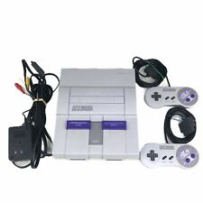 Super Nintendo SNES Console with Two Controllers Works Tested