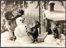 alte Mecky,Mecki Foto Ansichtskarte von 1959,Diehl Film Nr.57,Winterfreuden