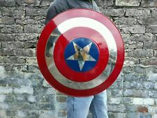 More details for medieval captain america shield x-mas cosplay prop best steel metal shield
