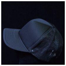 Plain Black Trucker Hat Ebay
