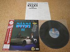 OST Miami Vice II/ Japan LP/ OBI Sheet Jackson Browne Phil Collins Jan Hammer