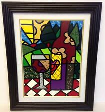 """""""RED WINE"""" by ROMERO BRITTO, LIMITED EDITION SERIGRAPH ON GESSO PANEL 97/100"""