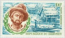 DAHOMEY 1970 413 C119 Walt Whitman Dahoman Huts Dichter Poet Pfahldorf MNH