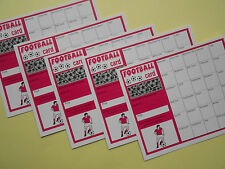 SCRATCH CARDS - FOOTBALL THEMED - 30 SPACES X5 - GREAT FUNDRAISER RAISE £65