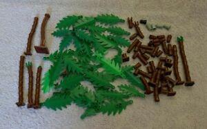 Lego Palm Trees Bundle Leaves Trunk Beach Tree Vintage Job Lot Pirates Flag Leaf