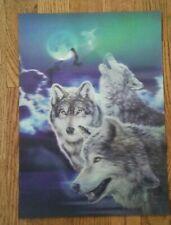 Wolfs Lenticular art print