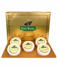 New Pure Roots herbal Gold Facial kit Instant Glowing skin 300ml F-Ship