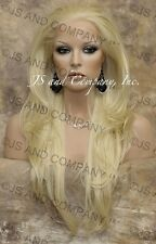 HEAT SAFE Lace Front WIG So Realistic Pale Blonde  APA8 613