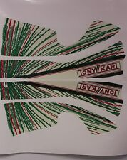 TONY KART TONY-KART STICKER KIT BUMPER GRAPHICS SHIFTER RACING SET OF 2 DECALS