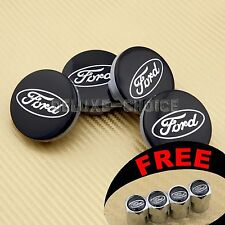 4 Black Car Alloy Wheel Center Hub Cap Hub Badge 54mm face for FORD High Quality