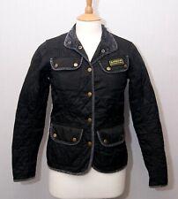 Barbour Vintage International Quilt women's black padded biker style jacket uk8
