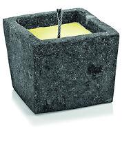 Outdoor Kerze mit Citronella Duft Lavatopf Quadratisch + Fackeldocht/Duftkerze