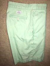 "Vineyard Vines Club Shorts Size 30 Light Green 9"" Inseam Flat Front 100% Cotton"