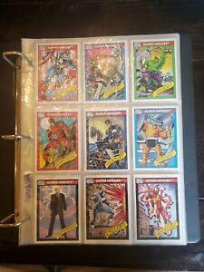 1990 Marvel Universe Series 1 Trading Cards 1-162 complete base set & 2 hologram
