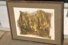 Rare 1965 Signed Mary Cranfill Curtis Print Framed Matted 32x26 Marsh Fledgling