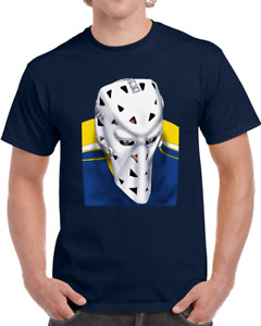St. Louis Blues Mike Liut Goalie Mask Tee Shirt Vintage Design | Multiple Colors