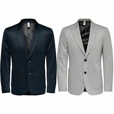 Only & Sons Mens Blazer Jacket Long Sleeve Casual Plain Wedding Two Button Coat