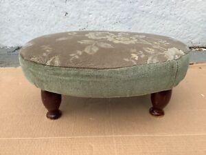 Green Oval  Floral Designed Footstool