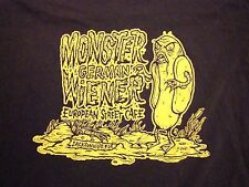 Monster German Wiener European Street Cafe Jacksonville Florida FL T Shirt XL