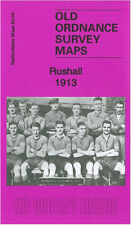 OLD ORDNANCE SURVEY MAP WALSALL RUSHALL DAW END KINGSTON PLACE 1913