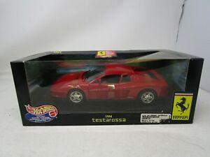 1999 Hot Wheels Collectibles *1984 FERRARI TESTAROSSA* 1:18  (RED)  (SEALED)