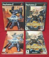 Armored Core 2 + 3 PS2 Playstation 2 - Case, Manual, Cover Art ONLY - NO Games!!