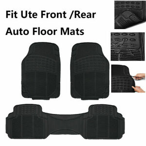 Fit Ute Auto Rubber Floor Mats All Weather Anti-slip Abrasion Stain Resistant 3x