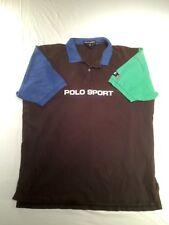 Vtg Polo Sport Ralph Lauren Collared Shirt USA Blue, Green, Black Men's Size XXL