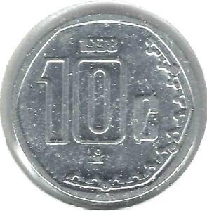 1998 Mexico Uncirculated Ten Centavo Coin