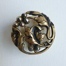 Bouton ancien - Métal & clous d'acier - 21mm - Art Nouveau - Fin XIXe - Button