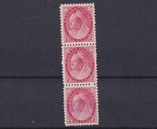 Canada 1898 - 02 SG 155B 2C rosa carminio striscia di 3 Gomma integra, non linguellato CAT £ 240