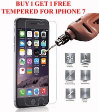 GENUINE TEMPERED GLASS  SCREEN PROTECTOR FOR APPLE IPHONE 7 BUY 1 GET ONE FREE