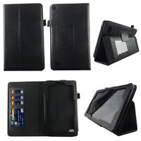 Black Fit for Kindle Fire 7 inch 2015 Tablet Case Cover ID Slot