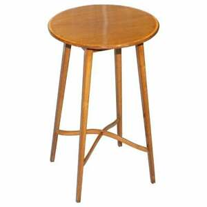 LOVELY MAHOGANY VINTAGE ROUND SIDE END LAMP WINE TABLE STUNNING TIMBER PATINA
