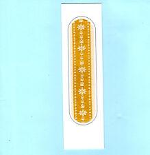 Bookmark Woven Silk Museum Golden Flowers Braintree Essex Birthday Xmas Gift Her