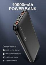 FLOVEME PowerBank 10000mAh External Battery Portable Charger Black for Device