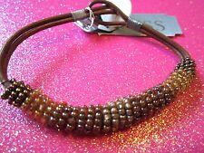 Guess Brown Beaded Bracelet