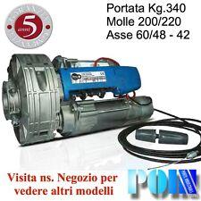 MOTORE SERRANDA AVVOLGIBILE PORTATA 340 KG. BIMOTORE 200/60 CON ELETTROFRENO