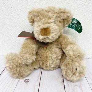 "Russ Berrie & Co Higgins Plush Stuffed Animal Toy Teddy Bear 8"""
