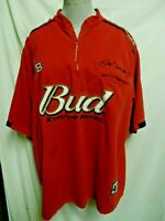Chase Authentics XL Dale Earnhardt Jr Budweiser Red Nascar Line Zippered Shirt