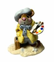 """Wee Forest Folk: """"Arty Mouse"""" Yellow, Collectible, 1982, M-71"""