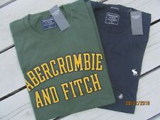 NWT Abercrombie & Fitch Men's Lot of 2 Short Sleeve T Shirts Sz Med Set of 2 A&F