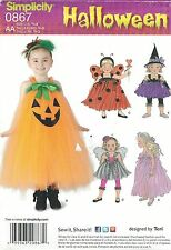 Simplicity 1768 Toddlers' Costumes 1/2, 1, 2, 3   Sewing Pattern
