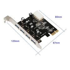 4 Port USB 3,0 PCI Express Card PC Karte Computer Controller Hub PCIe Adapter