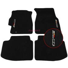 Fits 96-00 Honda Civic Black Nylon Floor Mats Carpets w/Mugen Embroidery