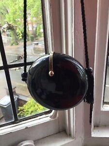 black vintage evening bag