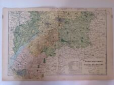 Worcestershire & Gloucestershire S,1904 Antique County Map, Large, Bacon's Atlas