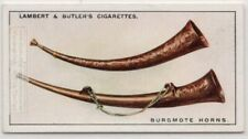 Burgmote Horns Hammered Embossed Bronze Music Instrument 1920s Ad Trade Card