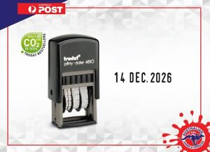 Trodat date stamp 4810 Self inking stamp Black Printy Dater 3.8mm Long date