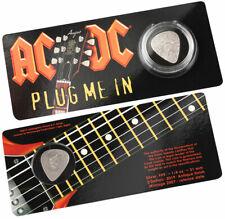 2019 Cook Islands AC/DC Plug Me In Guitar Pick Shaped 1/4 oz Silver Antiqued $2